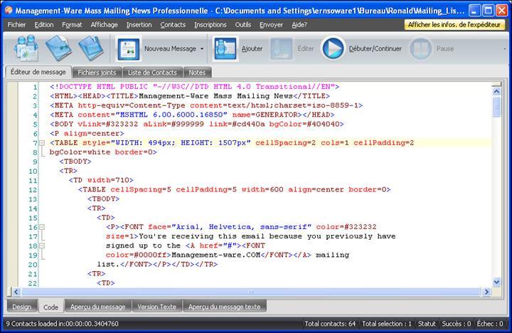 Logiciel emailing g r a t u i t freeware logiciel complet for Photo ecran logiciel